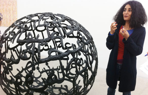 Ghada Amer with The Words I Love the Most
