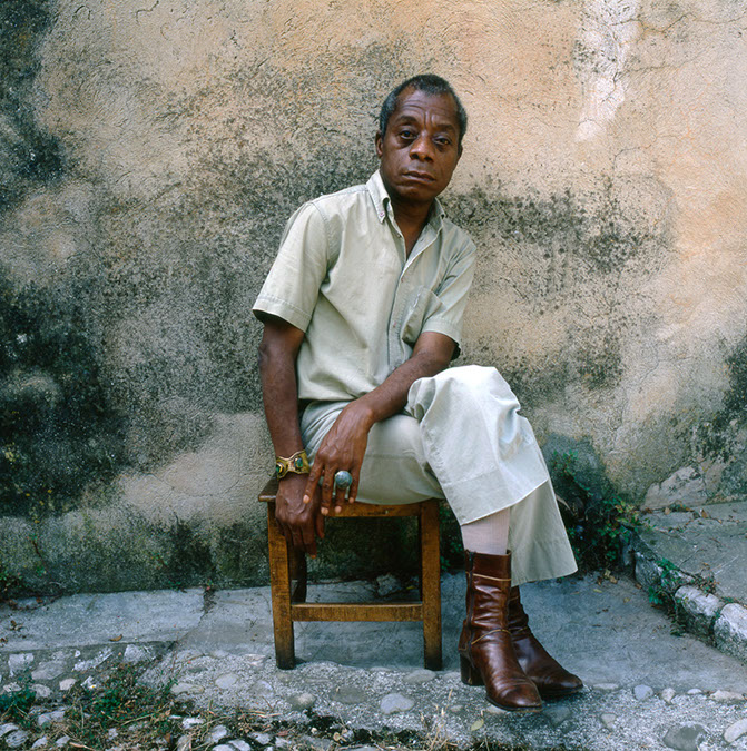 James Baldwin, France, 1979. Photo by Dmitri Kasterine.