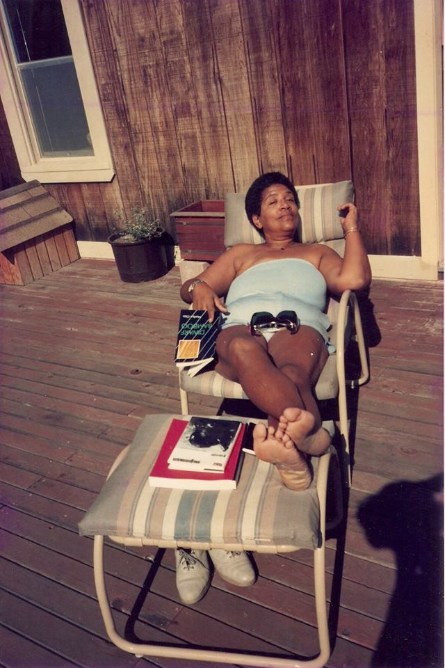 Audre Lorde taking time