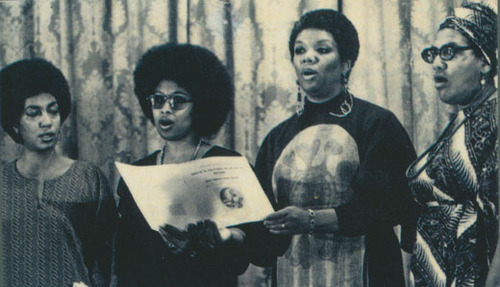 June Jordan, Alice Walker, Lucille Clifton, and Audre Lorde, At Phillis Wheatley Poetry Fest, 1979.