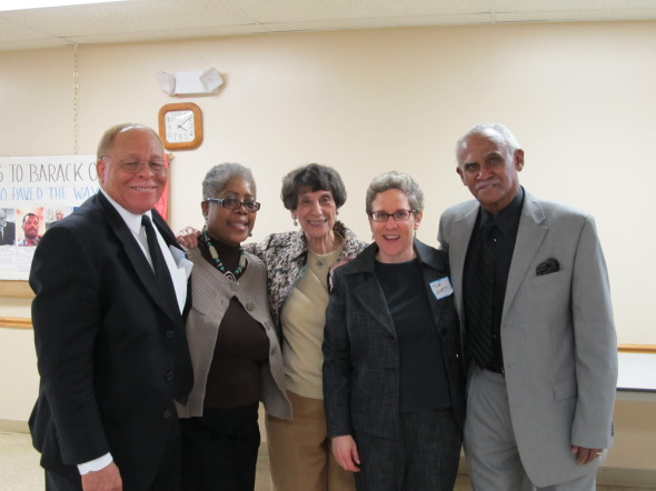 Susan Hyatt (second from right) with collaborators from the Southside project